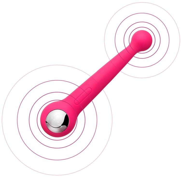 Máy rung tình dục cao cấp tạo nhiệt Svakom Bonnie – CR237   chày rung tình dục hai đầu dụng cụ yêu uy tín